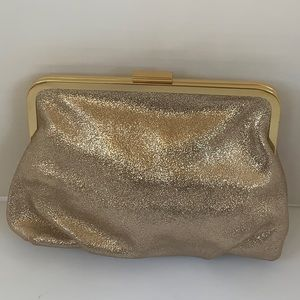 Jcrew Gild metallic clutch